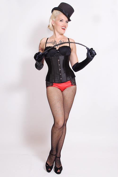 Burlesque Black Satin Victorian Waist Cincher Halloween Costume
